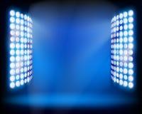 De ljusa tornen för stadion. Vektorillustration. Arkivfoton