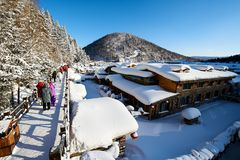 De llovely de sneeuwstad van China ` s royalty-vrije stock foto