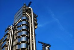 De Lloydsbouw in Londen, de binnenstebuiten Bouw Royalty-vrije Stock Fotografie
