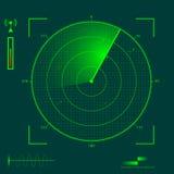 De localisatie van de radar Royalty-vrije Stock Afbeeldingen