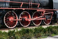 de locomotief van de cirkelstoom Stock Foto's