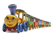 De locomotief van de illustratie Stock Afbeelding