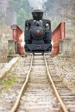 De locomotief van de stoom stock afbeeldingen