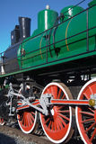De locomotief van de stoom Stock Foto