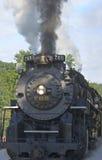 De locomotief van de trein Stock Foto's
