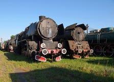 De locomotief van het verleden Royalty-vrije Stock Afbeelding
