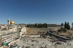 De Loeiende muur, Jeruzalem - Israël Royalty-vrije Stock Afbeeldingen