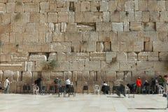 De Loeiende muur, Jeruzalem - Israël Stock Foto's
