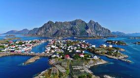 De Lofoteneilanden is een archipel in de provincie van Nordland, Noorwegen stock fotografie