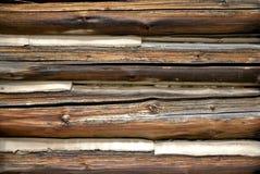 De logboeken van Chinked. Stock Foto's