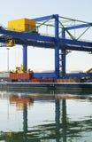 De Logistiek van de haven stock foto's