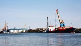 De logistiek van de haven Stock Foto