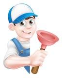 De Loodgieter van de beeldverhaalduiker Stock Afbeelding