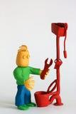 De Loodgieter van de klei Royalty-vrije Stock Foto's