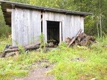 De loods van het brandhout Stock Fotografie