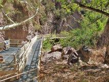 De Loopbrug van de Whitewatercanion royalty-vrije stock foto's