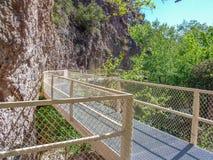 De Loopbrug van de Whitewatercanion in New Mexico royalty-vrije stock fotografie