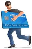 De looppas van de mensenrover met creditcard vector illustratie