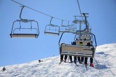 De looppas van de ski Stock Afbeeldingen