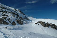 De Looppas van de ski Stock Afbeelding