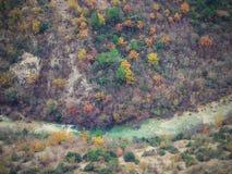 De looppas van riviercikola door de canion, Kroatië, openlucht, Europa stock foto's