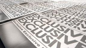 De Looppaseind van de kranten Exclusief Pers Royalty-vrije Stock Afbeeldingen