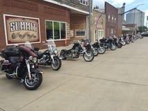 De looppasverzameling van de motorfietsenpook Stock Foto
