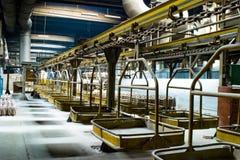 De lopende band van de fabriek Stock Fotografie