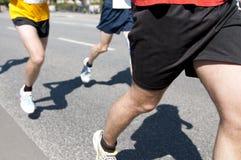 De lopende de sportconcurrentie van de marathon Stock Foto