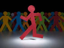 De lopende man Stock Afbeelding