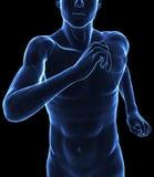 De lopende mens van de röntgenstraal vector illustratie