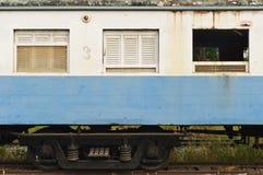 De lorrie van een verlaten trein Stock Fotografie