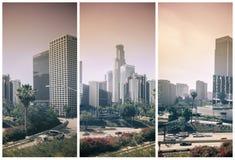 De Los Ángeles ciudad de la ciudad abajo Imagen de archivo