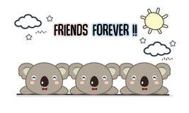 De los amigos ejemplo del vector de las koalas para siempre libre illustration