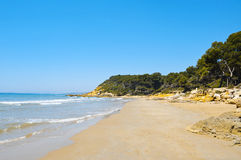 de Los angeles Plana platja roca Spain Tarragona Obraz Royalty Free