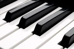 de los claves de teclado de piano Fotografía de archivo libre de regalías