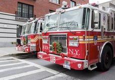 9/11 de los coches de bomberos Fotos de archivo