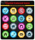 De los contactos iconos simplemente imagen de archivo libre de regalías