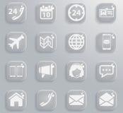 De los contactos iconos simplemente foto de archivo libre de regalías
