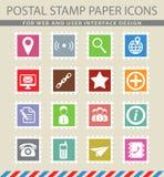 De los contactos iconos simplemente imágenes de archivo libres de regalías