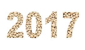 2017 de los fertilizantes minerales, aislados en blanco Fotografía de archivo libre de regalías