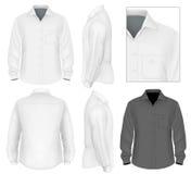 De los hombres del botón manga larga de la camisa abajo libre illustration