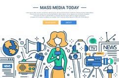De los medios de comunicación línea jefe hoy - del sitio web del diseño ilustración del vector
