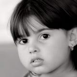 De los ojos negro tan como el carbón Foto de archivo libre de regalías