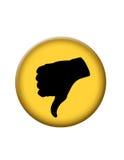 De los pulgares botón del icono abajo Fotografía de archivo