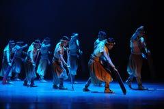 De los remeros- acto en segundo lugar de los eventos del drama-Shawan de la danza del pasado Fotografía de archivo
