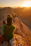 de losu angeles Luna ludzie zmierzchu Valle czekania Fotografia Stock