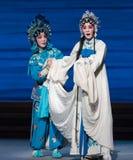 """De lot-zevende de handelingsdesintegratie van Bai Suzhen van familie-Kunqu Opera""""Madame Witte Snake† Stock Foto"""