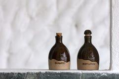 De lotion van de shampoo en van het Lichaam Royalty-vrije Stock Afbeeldingen