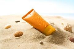 De lotion van de zon Stock Foto's
